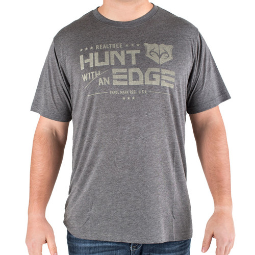 Men's Gray Hunt with an Edge t-shirt