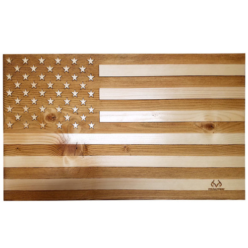 "10""x 17"" Veteran Made Realtree American Flag"