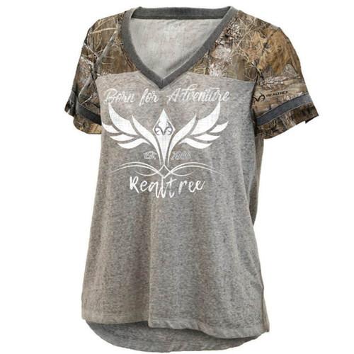 Women's Lightweight V-Neck Edge Accented Shirt
