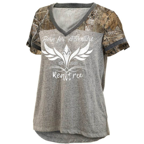 Women's Lightweight V-Neck Edge Accented Shirt