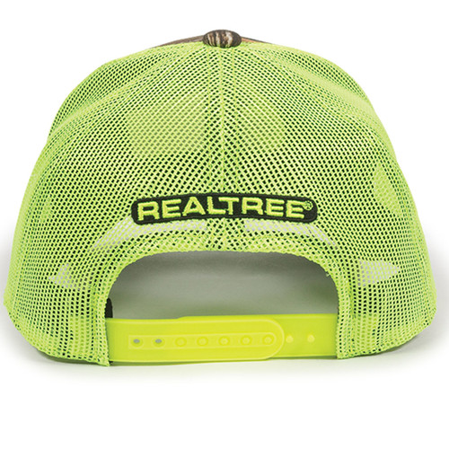 Men's Realtree Edge Neon Green Trucker Hat Back