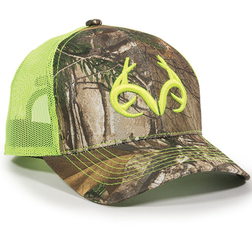 Men's Realtree Edge Neon Green Trucker Hat