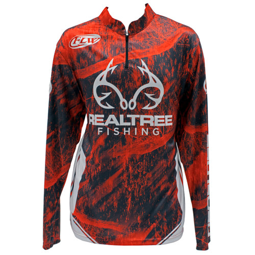 Realtree Fishing Red Banded Zipper Tactical Jersey