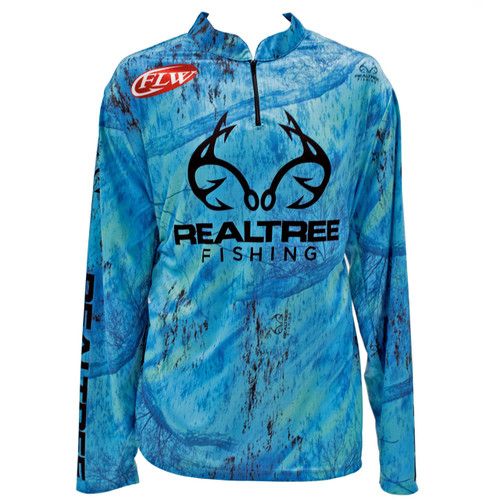 Realtree Fishing Teal Banded Zipper Tactical Jersey