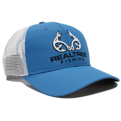 Realtree Fishing Blue Trucker Hat