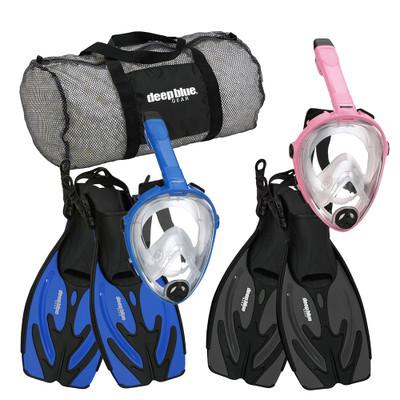Kid's Buddy Full Face Mask  - Snorkeling Set by Deep Blue Gear