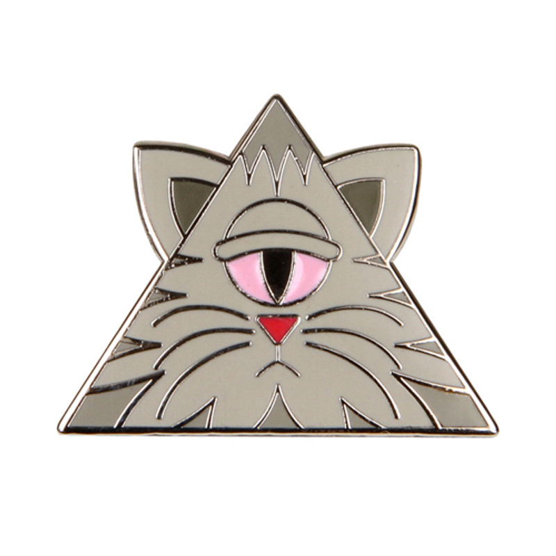 Illuminati Kitty Enamel Pin