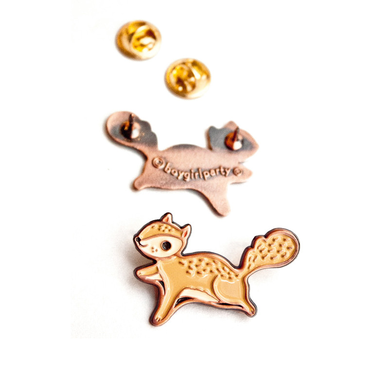 Flying Squirrel Enamel Pin