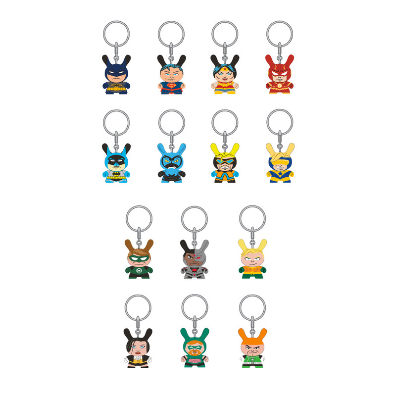 DC Justice League Dunny Keychains : Blind Box