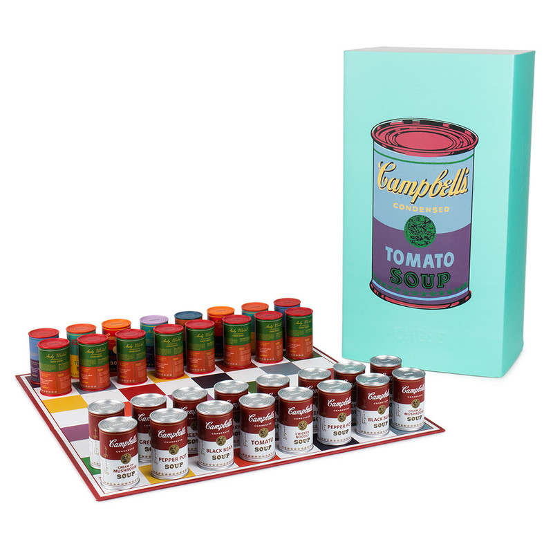 Warhol Soup Can Chess Set PRE-ORDER SHIPS IN 2 WEEKS