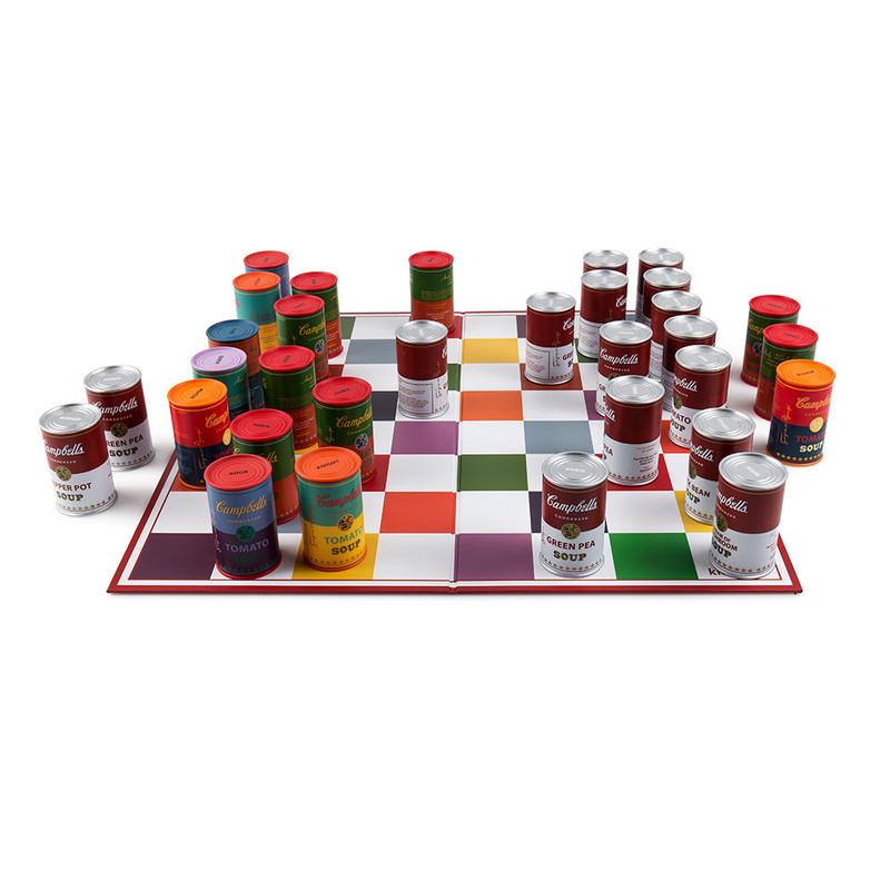 Warhol Soup Can Chess Set PRE-ORDER SHIPS NOV 2017