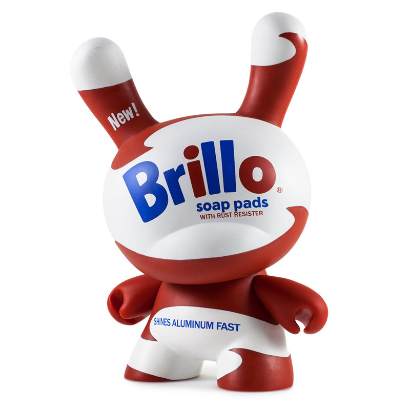 Andy Warhol 8 inch Masterpiece Dunny :  White Brillo