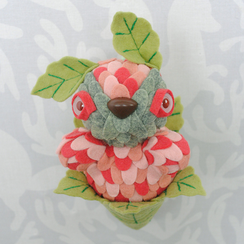 Strawberry Leaf Peeper by Horrible Adorables