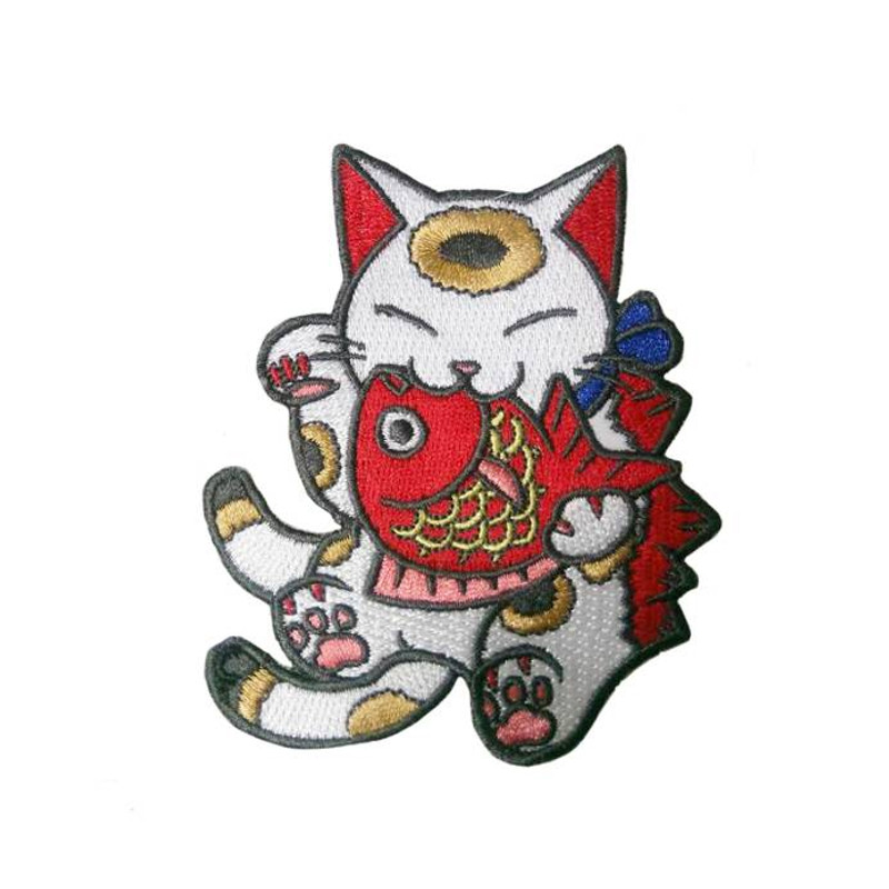 Negora & Koi Embroidered patch by Konatsu
