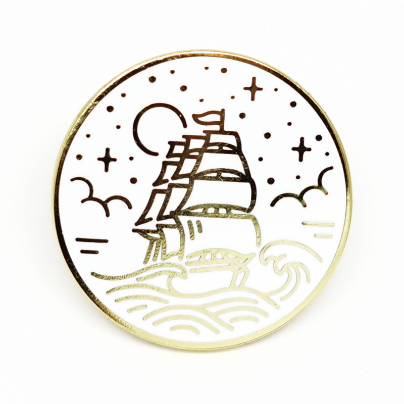 Nautical Vessel Enamel Pin