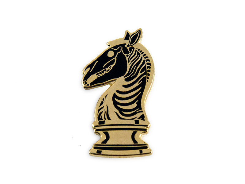 Last Knight Gold Enamel Pin