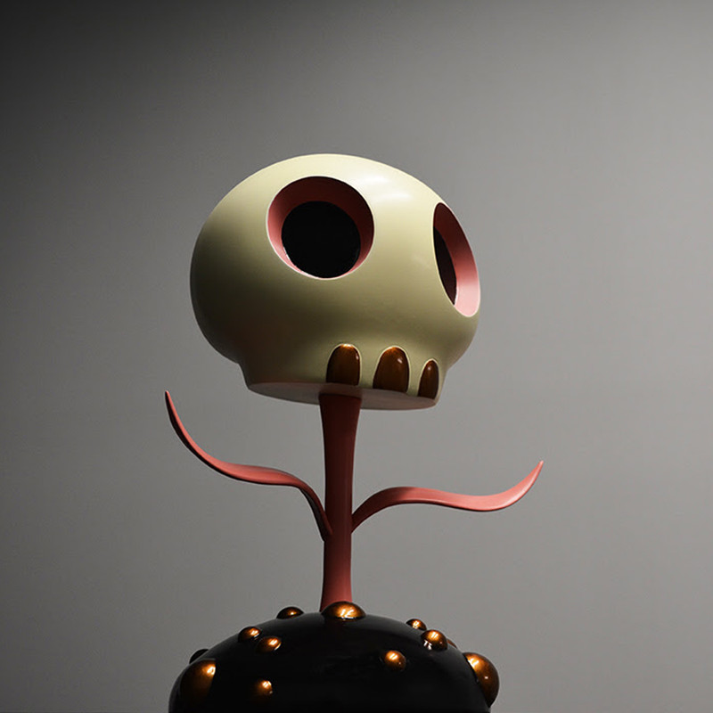 Skull Flower 5 inch by Tara McPherson PRE-ORDER SHIPS LATE FEB 2018