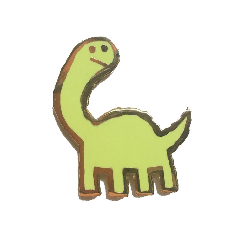 Long Neck Enamel Pin
