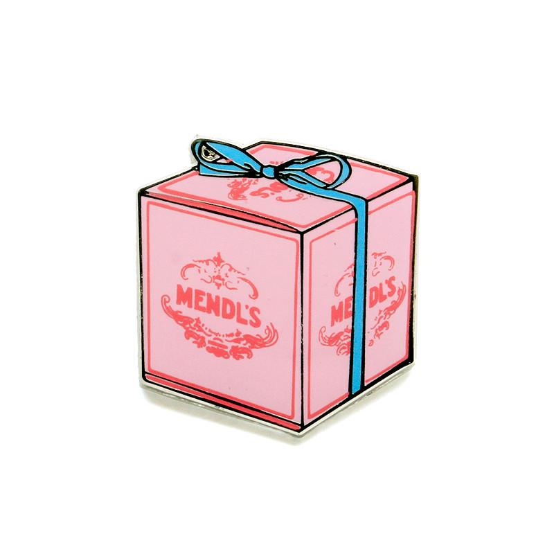 Mendl's Pink Bakery Box Enamel Pin