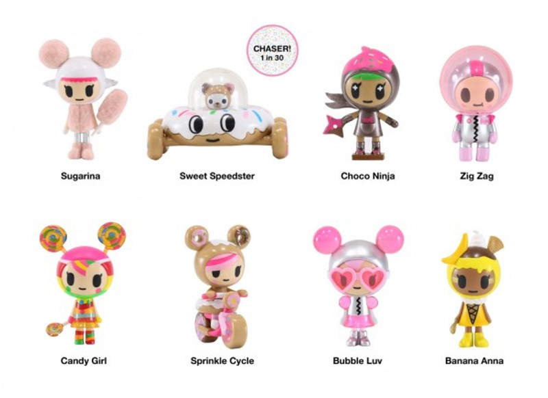 Donutella & Her Sweet Friends Vinyl Series 2 : Case of 16 PRE-ORDER SHIPS END OF MARCH 2018