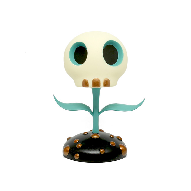 Skull Flower 5 inch : Blue by Tara McPherson