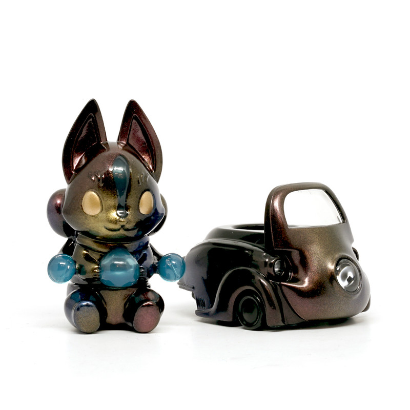Lumisofvi : Konta Black Set (Mini Figure with Light-up Car + Base) PRE-ORDER SHIPS OCT  2018
