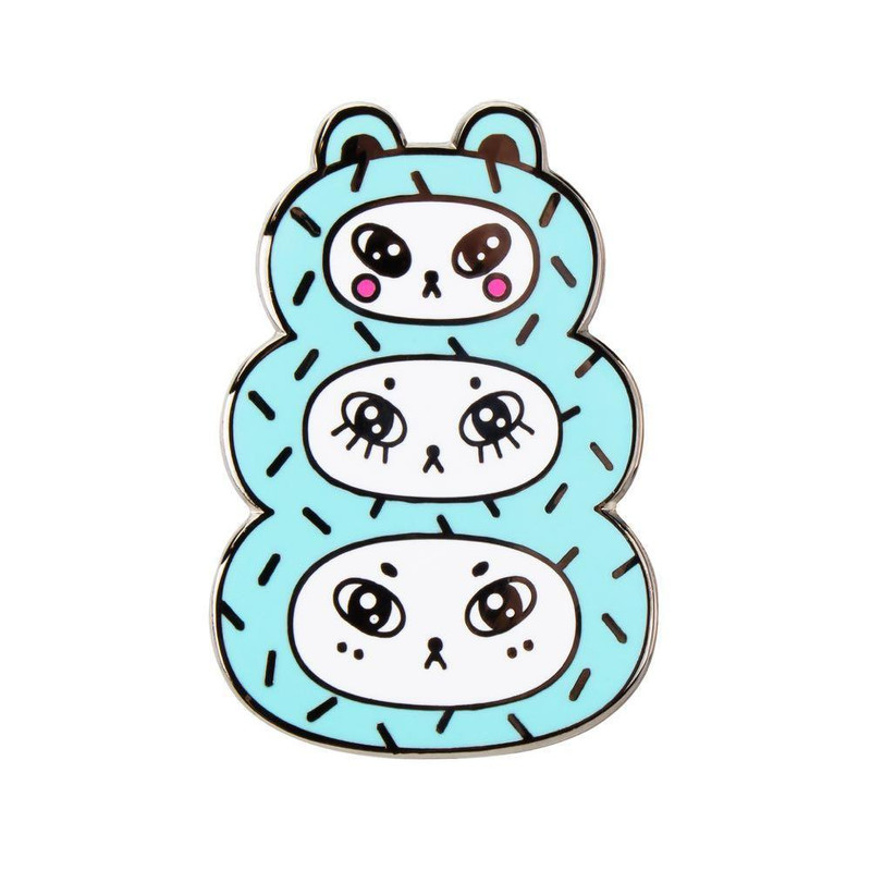 Three Bears Blue Enamel Pin