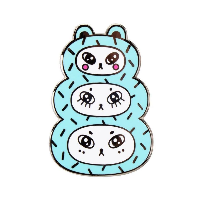 Three Bears Blue Enamel Pin