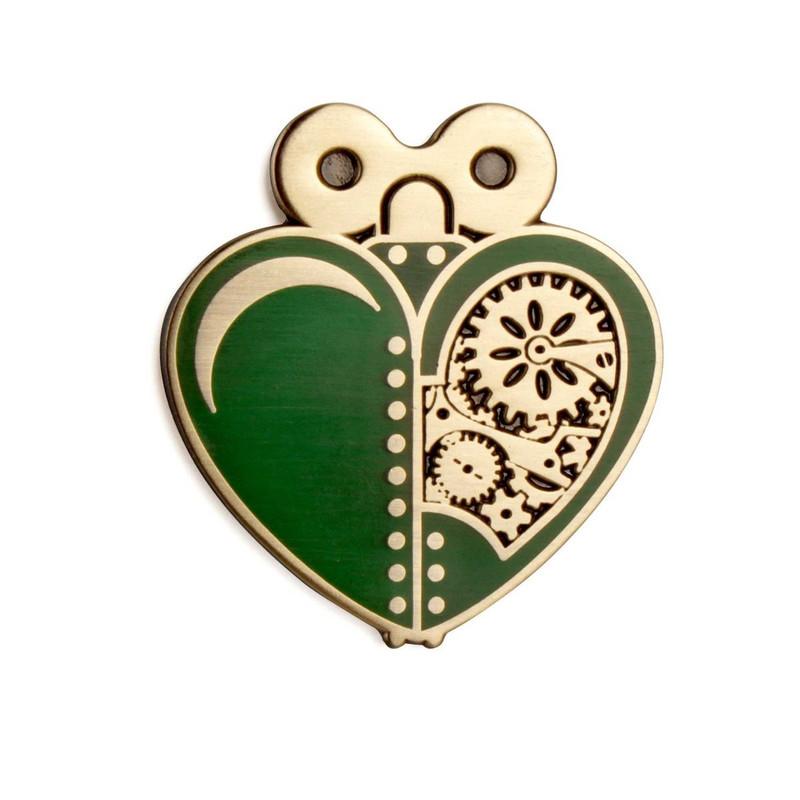 Woodsman's Heart Green Enamel Pin