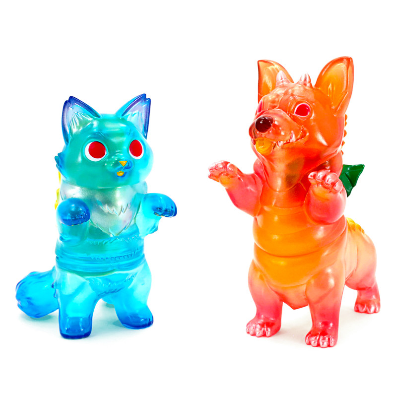 Corgidora Mai Tai & Fluffy Negora Blue Hawaii Set