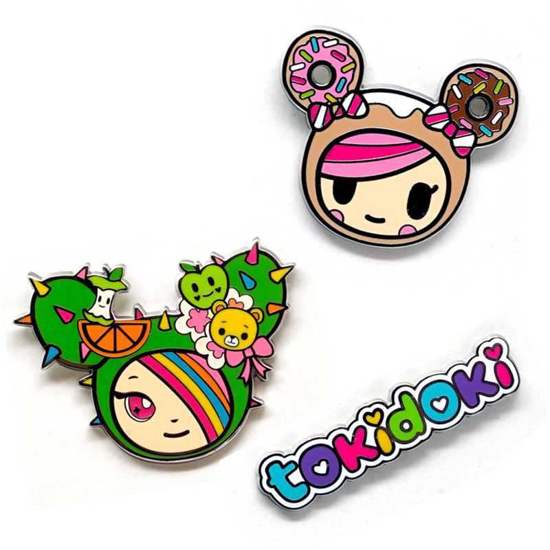 Kawaii Metropolis Enamel Pin 3-Pack