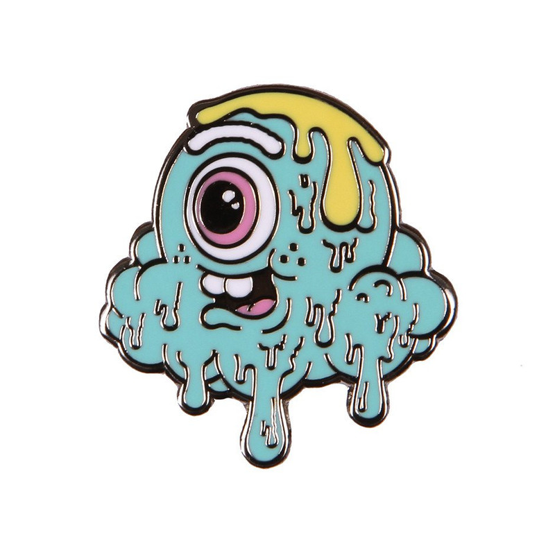 Motley Melty Teal Enamel Pin