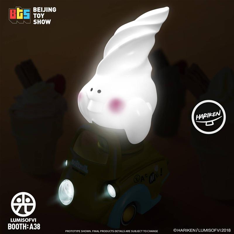 Lumisofvi : Softrolls White Set (Mini Figure with Light-up Car + Base) PRE-ORDER SHIPS OCT  2018