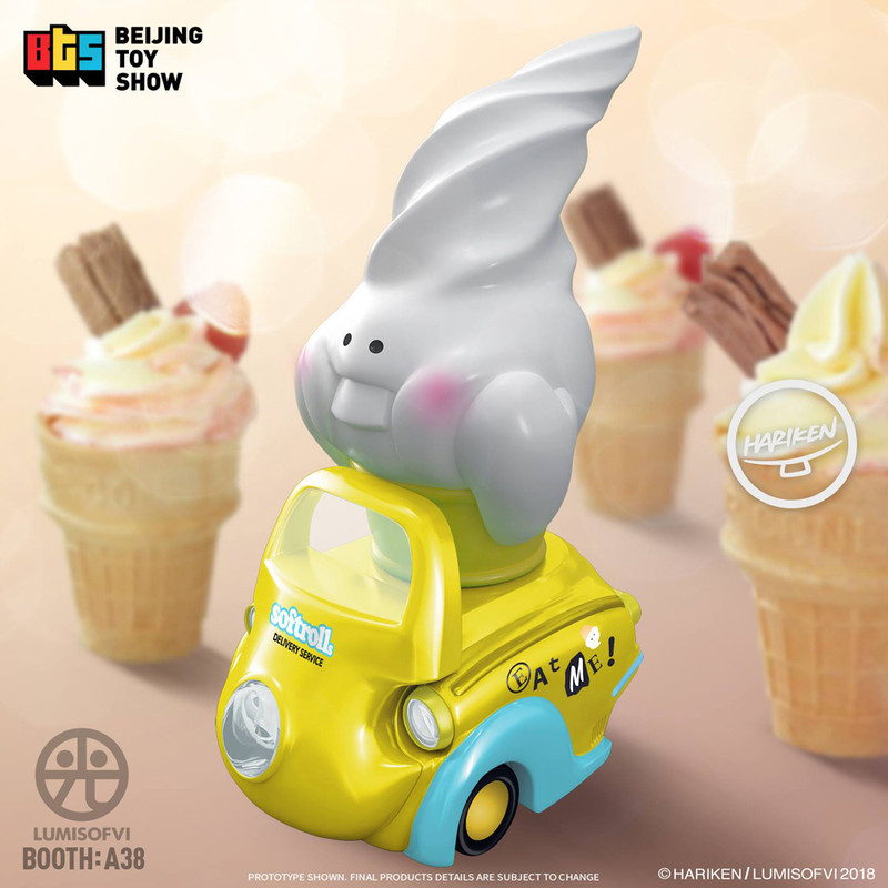 Lumisofvi : Softrolls White Set (Mini Figure with Light-up Car + Base) PRE-ORDER SHIPS OCT  2018