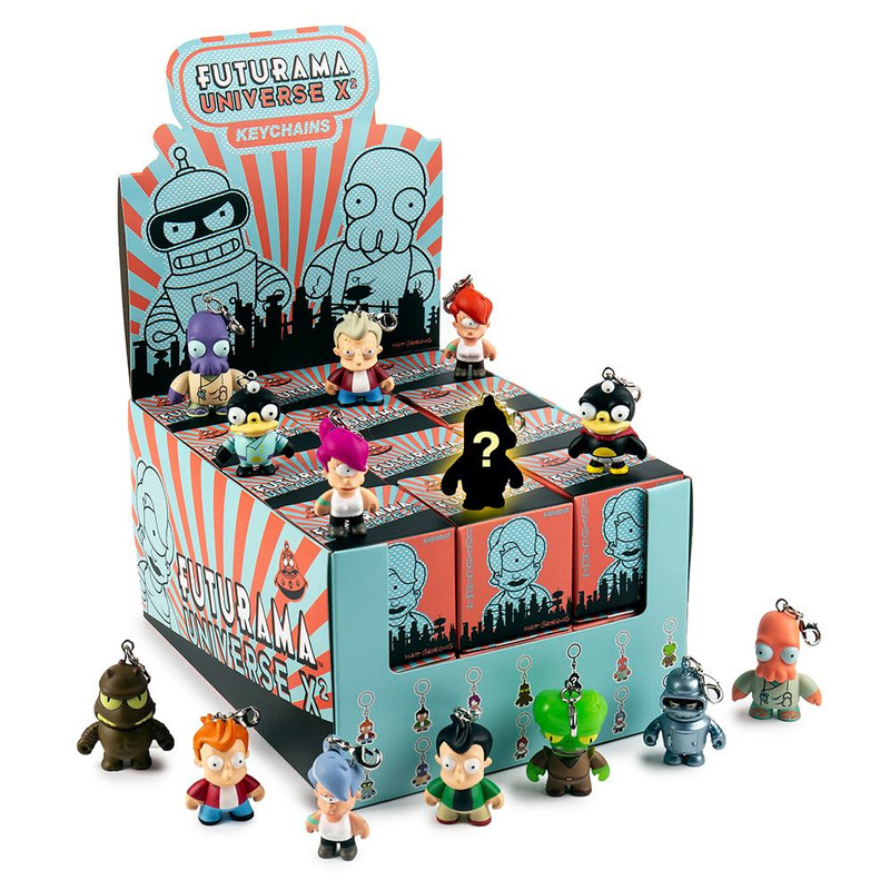 FUTURAMA UNIVERSE X2 Keychain Series : Case of 24