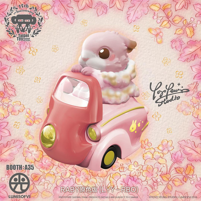 Lumisofvi : Raby Set (Mini Figure with Light-up Car + Base) PRE-ORDER SHIPS DEC  2018