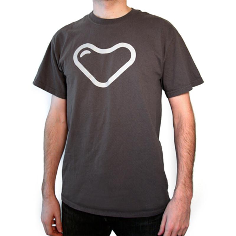 myplasticheart Tee: Grey Heart on Grey