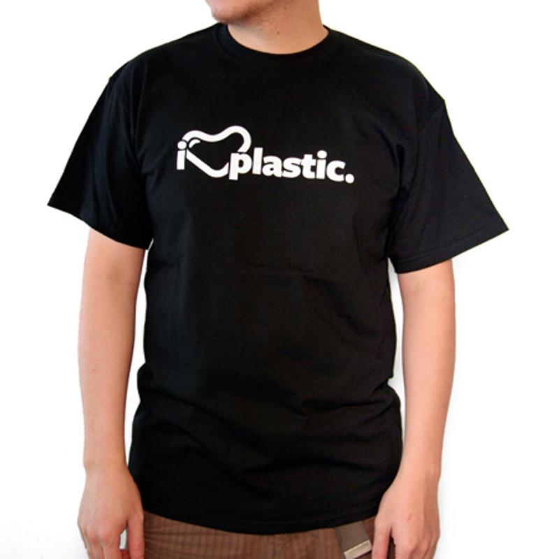 myplasticheart Tee: I Heart Plastic Black
