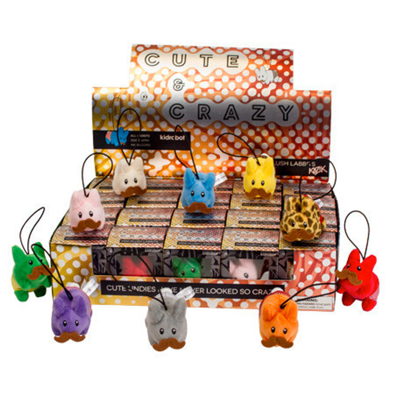 Cute N' Crazy Happy Labbit Plush Mini Series : Case of 20