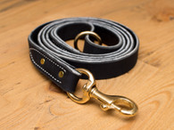 "Premium Leather Leash 1"" Super Heavy Duty"
