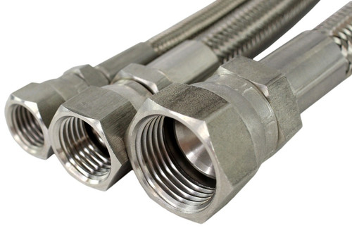 """USA Made 1/4"""" x 37 Degree JIC Stainless Steel Hoses"""