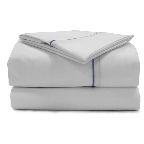 American Traveler Sheet Sets White with Colored Trim