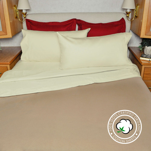 rv camper travel trailer organic sheet set