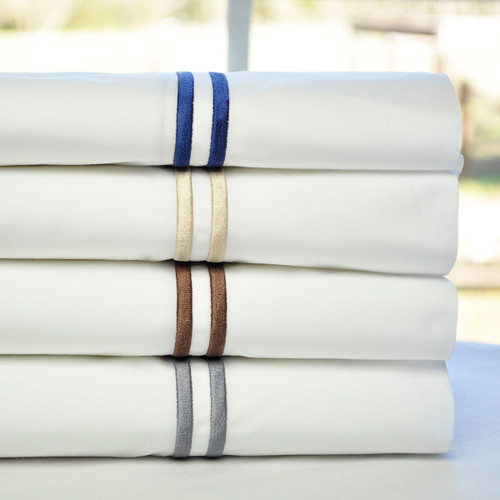 Tuscan Traveler Italian Pillowcases with Double Heirloom Stitching