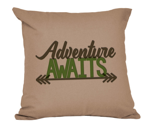 Adventure Awaits Decorative Pillow