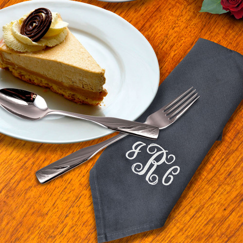 Monogrammed Initial Embroidered Napkin