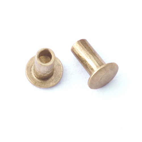 "1/16"" Dia. 1/8"" Long Brass Rivet (50pcs.)"