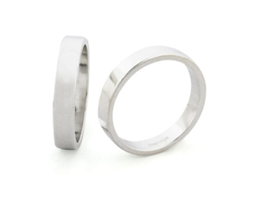 4mm Wide Ring Band - Size 12