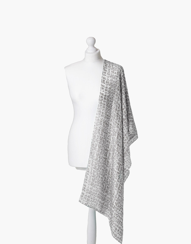 Classic Kufic Maxi Silk Hijab