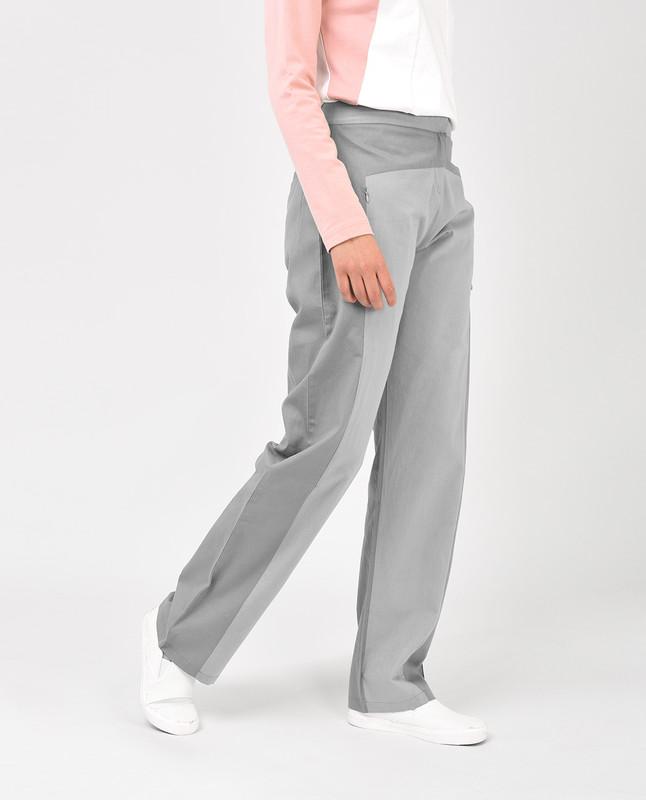 Light Grey Straight Leg Trousers
